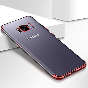 Cell phone cover case voor Samsung Galaxy A8 2018 transparante transparant rood