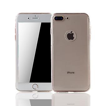 Apple iPhone 8 Plus Handy-Hülle Schutz-Case Cover Panzer Schutz Glas Transparent