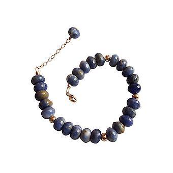 Lapis lazuli armband prachtige lapis lazuli armband verguld