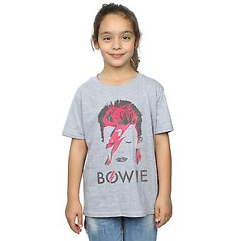 David Bowie Girls Aladdin Sane Distressed T-Shirt