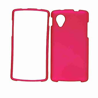 Unlimited Cellular Snap-On Case for LG Nexus 5 (Rubberized Honey Hot Pink)