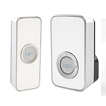 Lloytron B7505WH 32 Melody Mains Plug-in Wireless Door Chime with MiPs - White