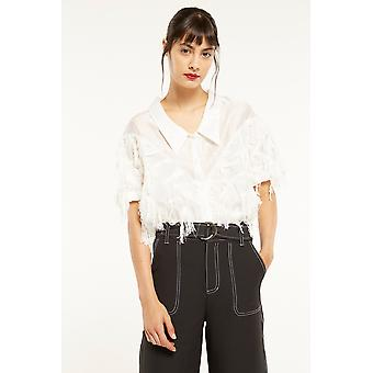 Ghospell Blouse With Fringe Detail
