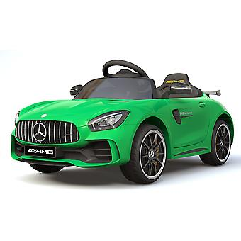 Licensed Mercedes Benz GTR AMG 12V Motors Kids Electric Ride On Car Green