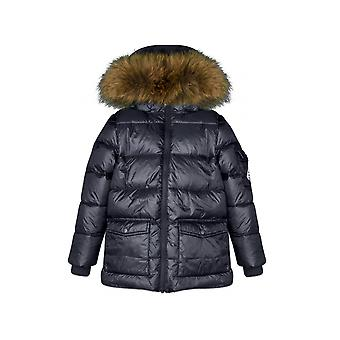 Pyrenex Kids Pyrenex Kids Authentic Fur Down Filled Navy Jacket