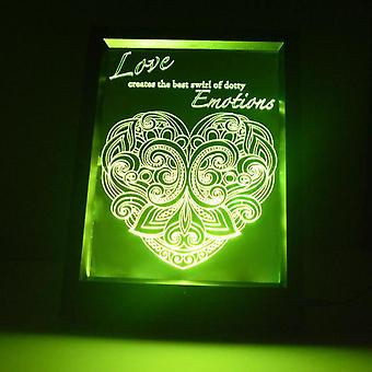 Dotty Emotions Heart & Quote Colour Changing RC LED Mirror Light Frame