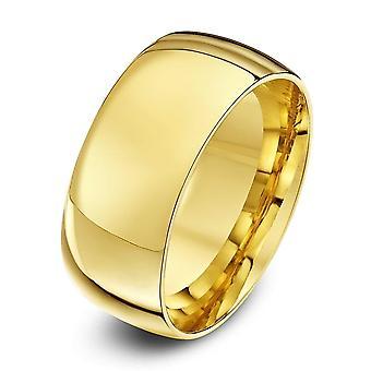 Star Wedding Rings 9ct Yellow Gold Light Court Shape 9mm Wedding Ring