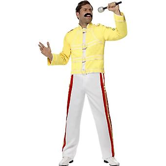 Smiffy's Queen Freddie Mercury Costume, Yellow, With Jacket & Trousers