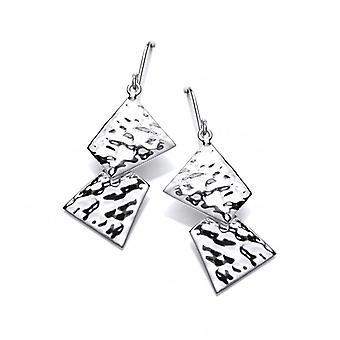 Cavendish francés plata geométricas pendientes