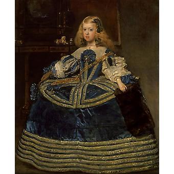 Инфанта донья Маргарита, Диего Веласкес, 50x40cm