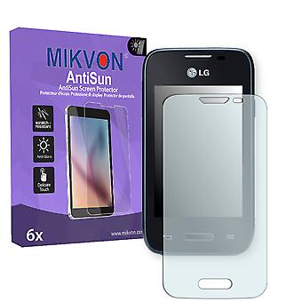 LG L35 Screen Protector - Mikvon AntiSun (Retail Package with accessories)