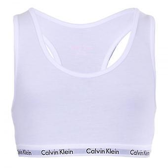Calvin Klein jenter 2 Pack moderne bomull Bralette, hvitt, Medium