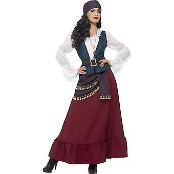Deluxe Pirate Buccaneer Beauty Costume, XL