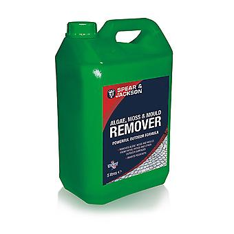5L Ready to Use Spear & Jackson Algae and Mould Remover, Moss Killer