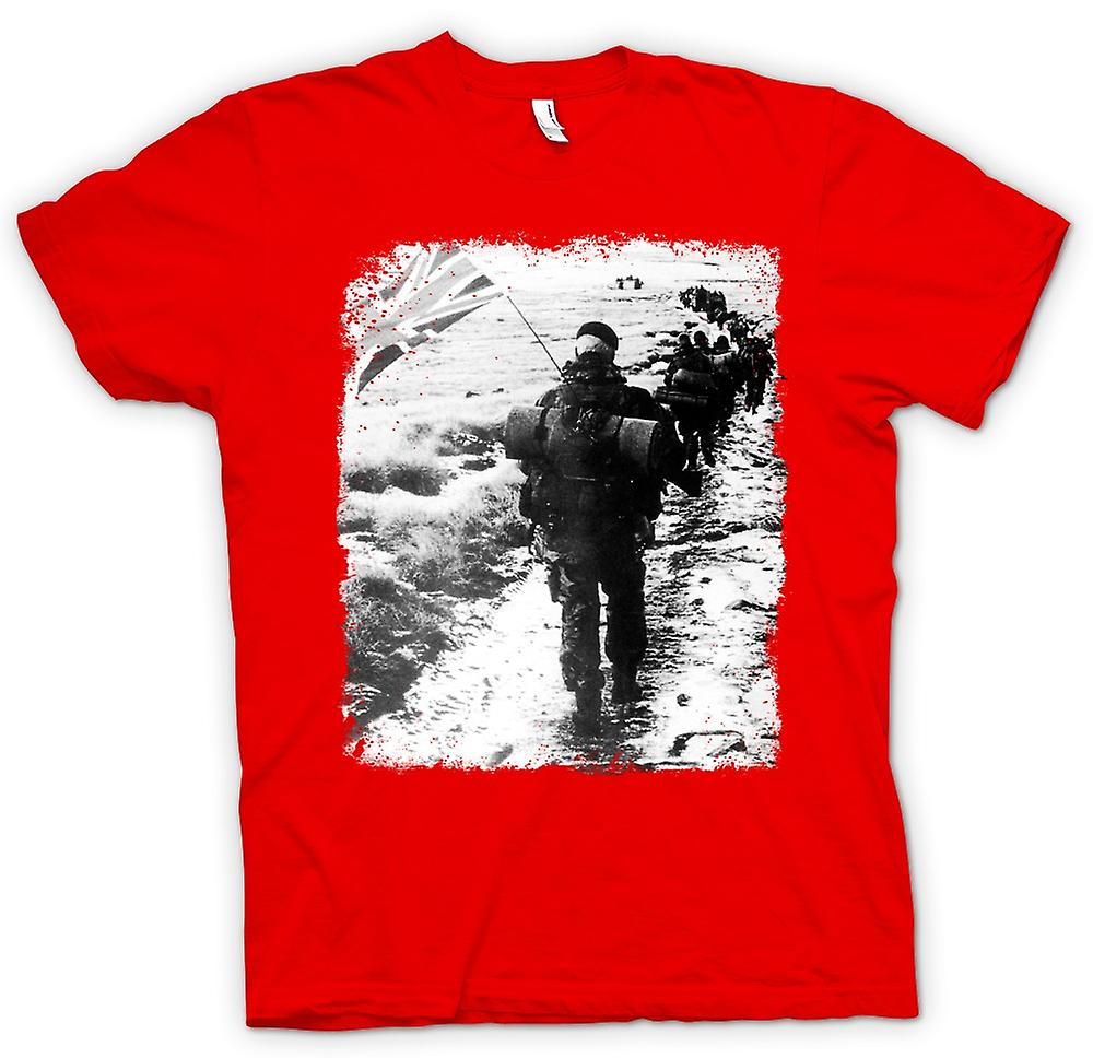 Mens t-shirt-Royal Marines Falklands Carrot