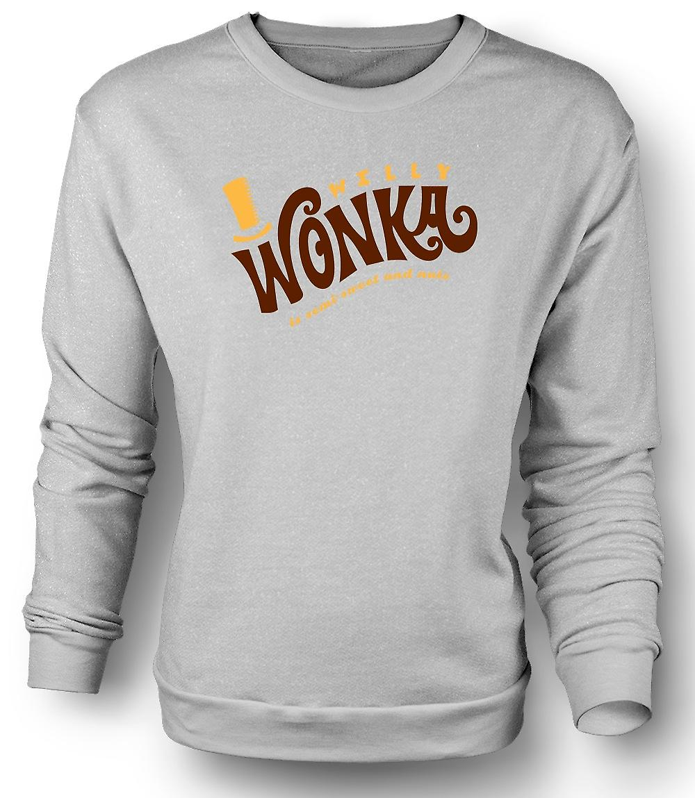 Mens Sweatshirt Willy Wonka And Chocolate Factory - BW