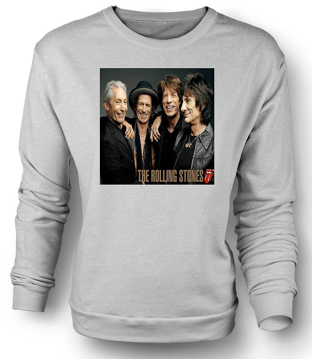 Mens Sweatshirt The Rolling Stones - Band Portrait - Lips