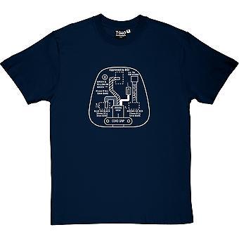 3 Pin Stecker Herren T-Shirt