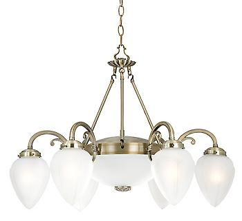 Searchlight 1998-8AB Regency 8 Light Traditional Antique Brass Pendant