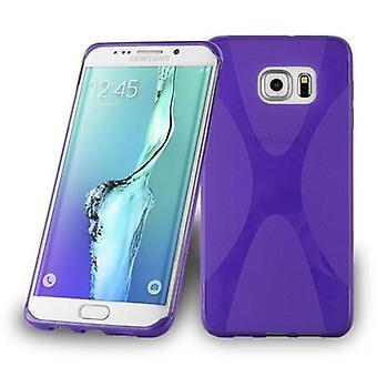 Cadorabo sleeve for Samsung Galaxy S6 EDGE PLUS - mobile cover flexible TPU silicone X-line design - silicone case cover soft back cover case bumper