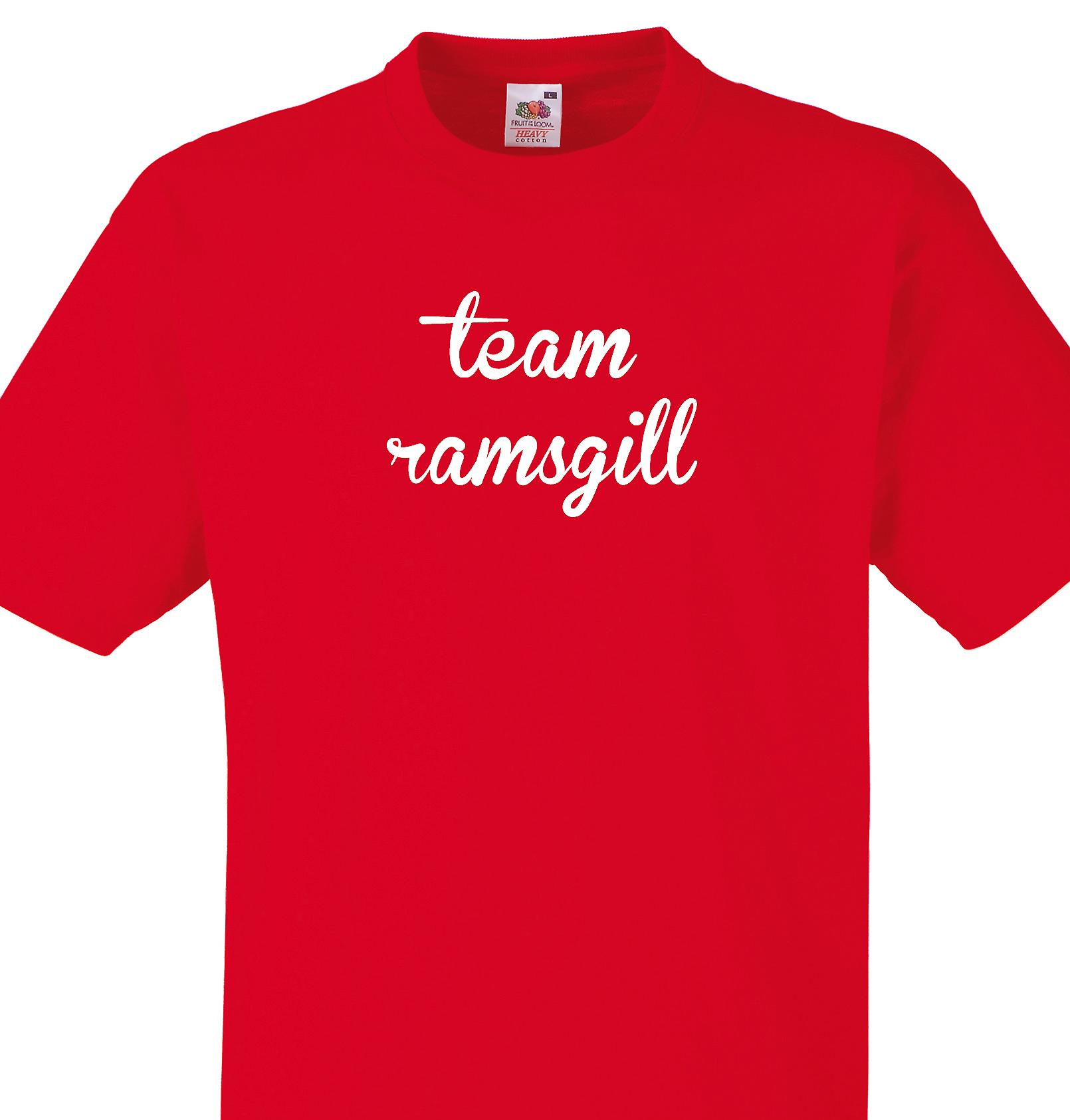 Team Ramsgill Red T shirt