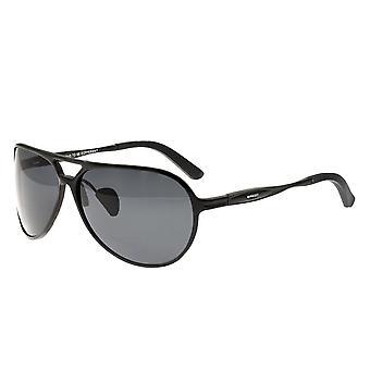 Raza Earhart aluminio polarizado gafas de sol - negro/negro