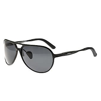 Breed Earhart Aluminium Polarized Sunglasses - Black/Black