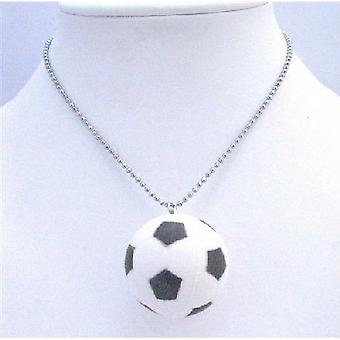 Sport Pendant Necklace Football Pendant Sport Jewelry Long chain