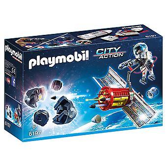 Playmobil 6197 المدينة عمل الأقمار الصناعية النيازك الليزر بتحطيم النيزك