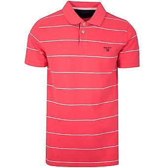 Gant GANT Wassermelone Red Striped Polo-Shirt