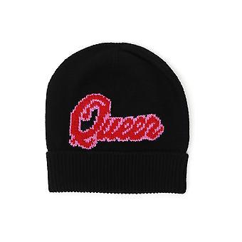 Dolce E Gabbana Black Cashmere Hat