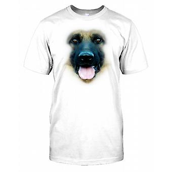Deutscher Schäferhund Ahnentafel Hund Gesicht Kinder T Shirt