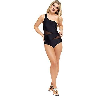 Tom Franks Womens/Ladies One Shoulder Swimsuit