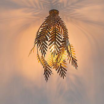 QAZQA lâmpada de teto Vintage folha ouro - Botanica