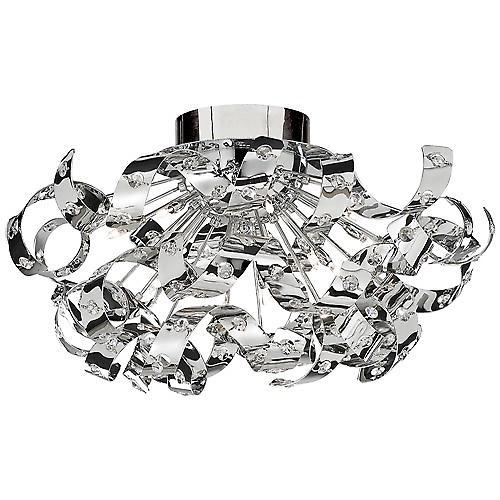 Searchlight 5812-12CC Curls 12 Light Chrome Finish Pendant Glass Beads