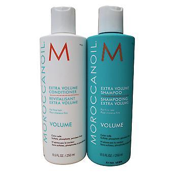 Moroccanoil Extra Volume Shampoo & Conditioner Set Fine Hair 8.5 OZ