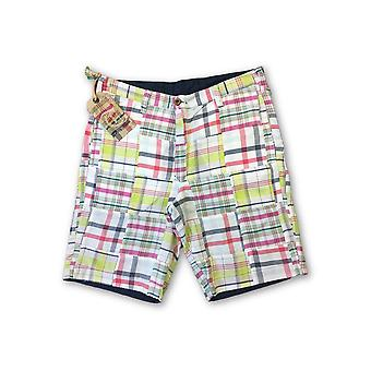 Tailor Vintage reversible shorts in multi colour madras