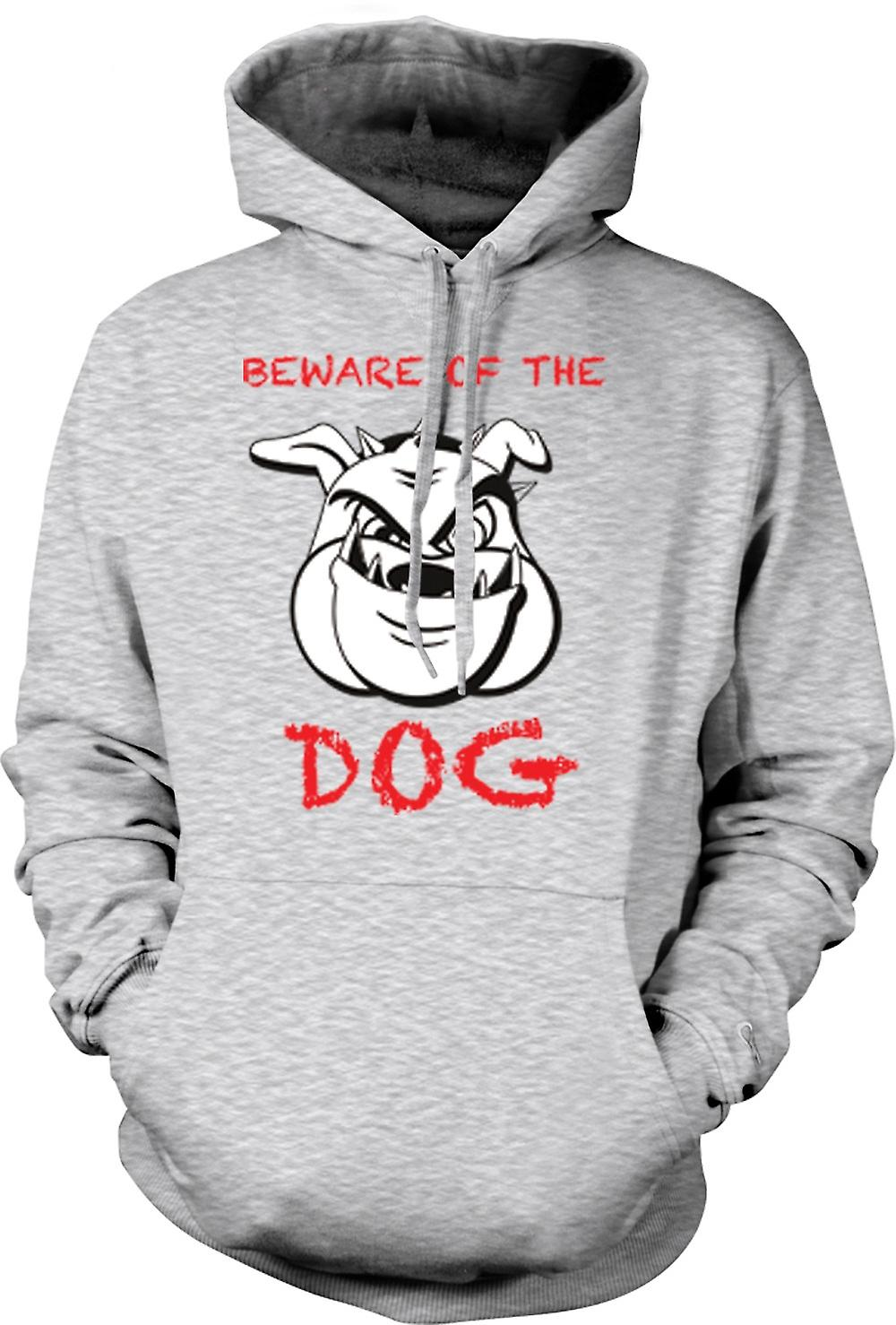 Mens Hoodie - Beware Of The Dog - Mean Boxer Dog