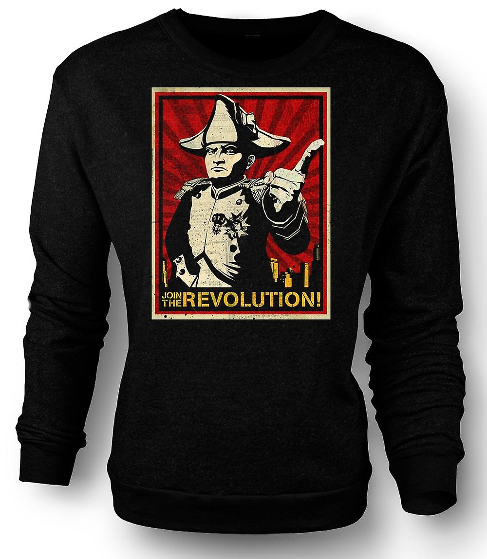 Mens Sweatshirt Napoleon - Join revolutionen