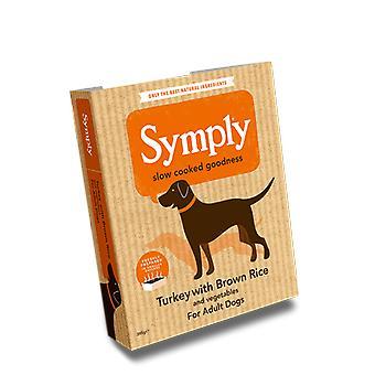 Symply Turchia & riso per cani adulti 395g bagnato vassoi - confezione singola