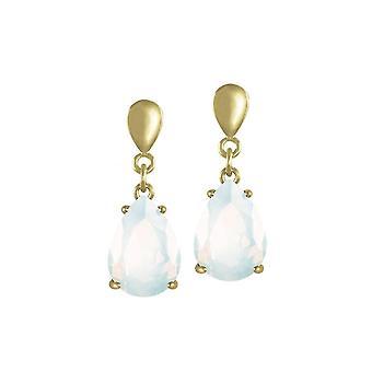 Éternelle Collection séduction larme blanc opale cristal or ton Drop boucles d'oreilles