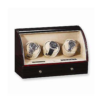 Ebony Gloss Finish Triple Watch Winder