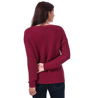 Womens French Connection Mara Mozart Crew Neck Jumper In Baked Cherry