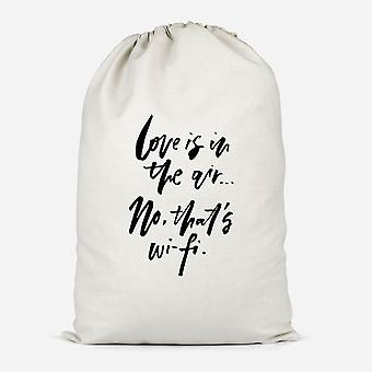 Love Is In The Air Cotton Storage Bag