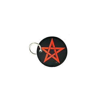 Porte Cle Cles Clef Brode Patch Ecusson Morale Biker Pentagramme Pentacl