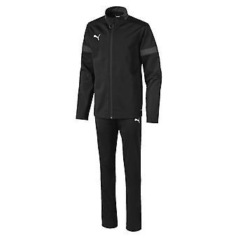 Puma FtblPLAY Kinder Fußball Fitness Training Sport Trainingsanzug Set schwarz/grau