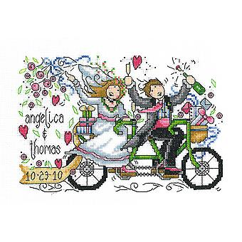 Wedding Ride Wedding Record Counted Cross Stitch Kit-8.75