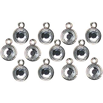 Jewelry Basics Metal Charms 12 Pkg Silver Drop 34708372