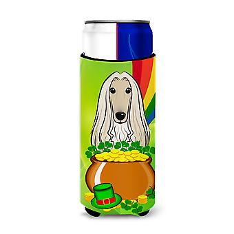 Afghan Hound St. Patrick's Day Michelob Ultra Koozies for slim cans BB1988MUK