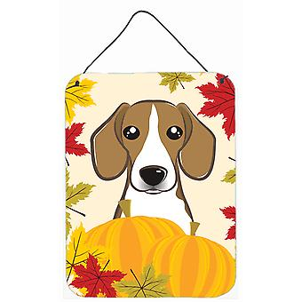 Beagle Thanksgiving Wall or Door Hanging Prints BB2045DS1216